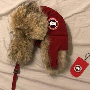 Canada Goose Men's Coyote Fur Aviator Hat